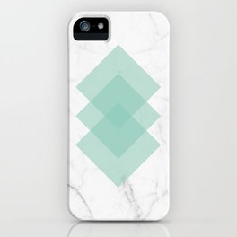 Marble Scandinavian Design Geometric Squares iPhone Case