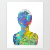 kozyndan Art Prints featuring Ocean Thoughts by kozyndan
