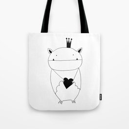 Scandinavian style bat illustration Tote Bag