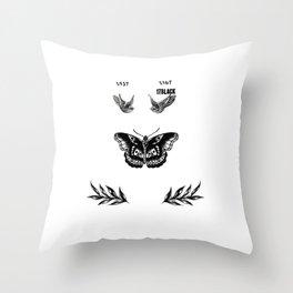 Harry's tattoo Throw Pillow