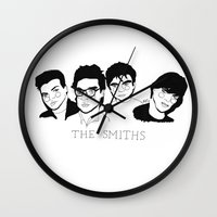smiths Wall Clocks featuring The Smiths by ☿ cactei ☿