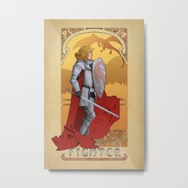 La Combattante - The Fighter Metal Print