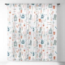 Gardening Things Sheer Curtain