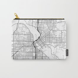 Cedar Rapids Map, USA - Black and White Carry-All Pouch