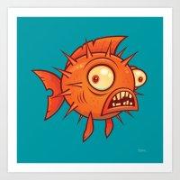 Pufferfish Art Print