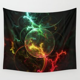 Carniverous Cape Sundew Tentacles in an Ecosphere Wall Tapestry