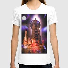 Full moon - Moments Shanghai Oriental Pearl Tower T-shirt