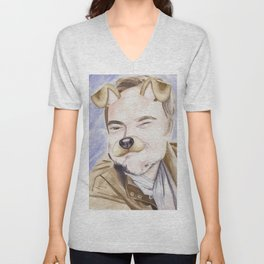 Mark Sheppard, watercolor painting Unisex V-Neck