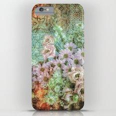 Shabby Retro Floral Slim Case iPhone 6 Plus