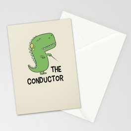 Dino The Conductor Stationery Cards