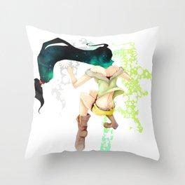 Floral jump Throw Pillow