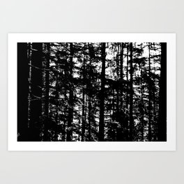 straight Art Print