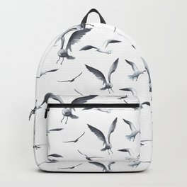 Flying Seagulls over the Ocean - Maritime Pattern - Mix & Match with Simplicity of life Backpack