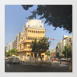 Tel Aviv Pagoda House - Israel Canvas Print