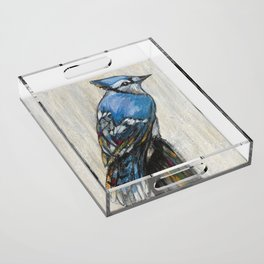 Blue Jay Acrylic Tray