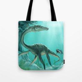 Underwater Dinosaur Tote Bag