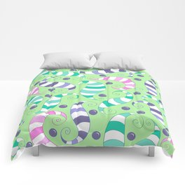 Crazy Twisters Pattern Print Comforters