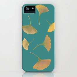 Flying ginkgo iPhone Case