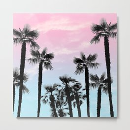 Tropical Palm Trees Dream #4 #tropic #decor #art #society6 Metal Print