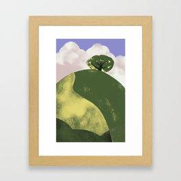 Lone Tree on a Hill Framed Art Print