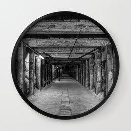 Old Tunnel, Cockatoo Island, Sydney Wall Clock