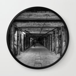 Dog Leg Tunnel, Cockatoo Island, Sydney Wall Clock