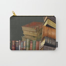 DECORATIVE  ANTIQUE LIBRARY, LEDGERS &  BOOKS ART Carry-All Pouch
