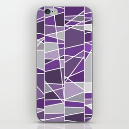 Purple and grey iPhone Skin