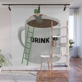 Coffee Pool - Drink Me! Wall Mural
