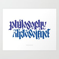 Philosophy, Art & Science Art Print