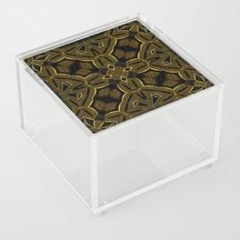 Gold Knight Medieval Geometric Pattern Acrylic Box