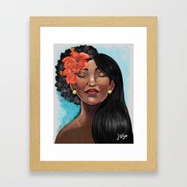 Hibiscus Versatile Afro Framed Art Print