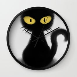 Toothless The Black Cat Wall Clock