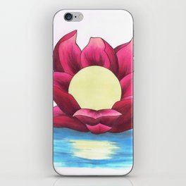 Full Moon Lotus iPhone Skin
