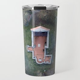 Old-time church from above Travel Mug