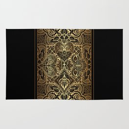 Ornament Gold Playing Card Rug