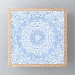 Soft Blue Mandala Framed Mini Art Print