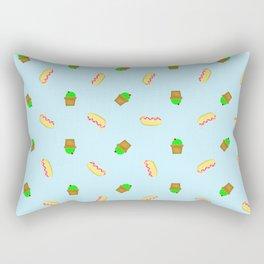 Hot-dogs and Cactus Rectangular Pillow