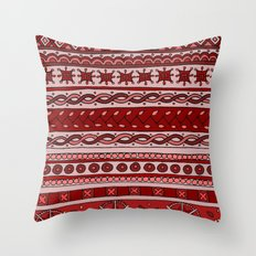 Yzor pattern 005 red Throw Pillow