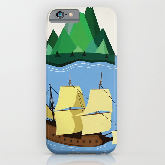 A Galleon on the High Seas iPhone & iPod Case