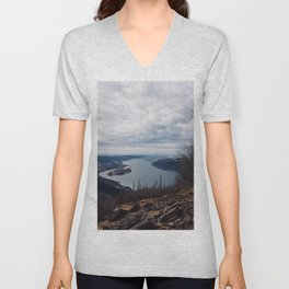 The Gorge in the Fall Unisex V-Neck