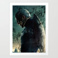 steve rogers Art Prints featuring Steve Rogers 006 by TheTreasure