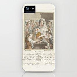 De Vestaalse Maagden offerend bij een altaar, Heinrich Sintzenich, 1781 iPhone Case