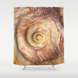 Abstract Shell Shower Curtain