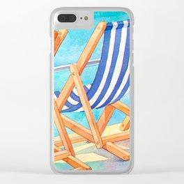 Beach Chairs 1 Clear iPhone Case