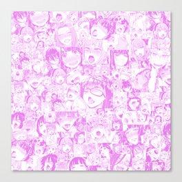 Pastel Ahegao Collage Canvas Print