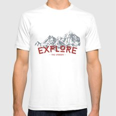 EXPLORE THE UNSEEN Mens Fitted Tee SMALL White