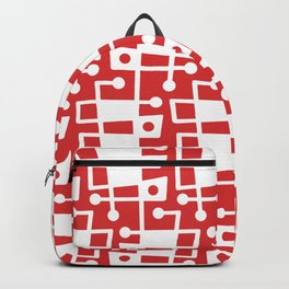 Mid Century Modern Abstract 213 Red Backpack