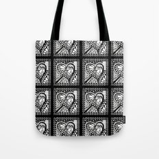 Abstract heart doodle Tote Bag
