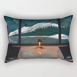 Train journey Rectangular Pillow